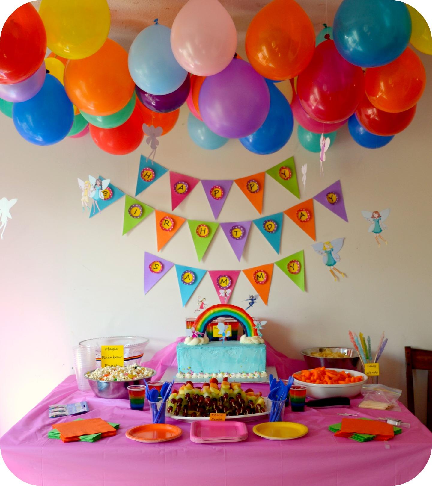 A Rainbow Fairy Party